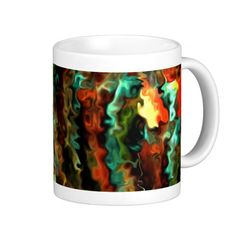 Smart Modern Art 45b.5 Mugs  Auroral ribbons, rivers of northern lights....? Beautiful mysterious print.