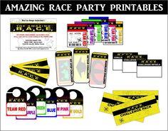 : Amazing Race Party Printables Set