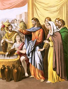 The Marriage at Cana – a miracle -- The marriage ceremony at Cana is only remembered on account of the alcohol that was offered to the wedding guests, but for that reason alone it remains one of the most famous weddings in the history of that Holy Sacrament. | image Cana Posted in Bible, Miracle, Religion at lookandlearn historical illustrations