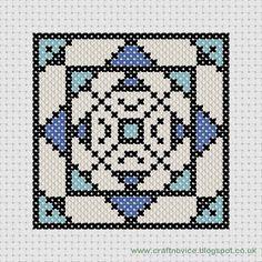 geometric cross stitch pattern