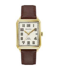 Limited Edition Joseph Bulova Breton Lizard-Embossed Leather Strap Automatic Watch, x - White/Brown Cool Watches, Watches For Men, Panerai Watches, Automatic Watch, Watch Brands, Luxury Watches, Fashion Watches, Brown Leather, Joseph