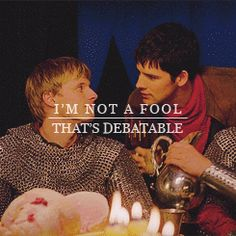 I love this show! And the relationship merlin and arthur have is priceless. Colin Morgan, Bbc, Merlin And Arthur, King Arthur, It's Over Now, Merlin Fandom, Saga, Bradley James, Bad Timing