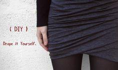 Tuto très bien expliqué pour une jolie jupe drapée !