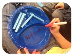 Really neat activity for practicing adding tens. Would also be good for adding tens and ones. Math Classroom, Kindergarten Math, Teaching Math, Classroom Ideas, Maths, Creative Teaching, Teaching Resources, Math Addition, Addition And Subtraction