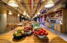 Futuro comedor. Oficinas Google en Tel Aviv