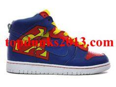 differently 30e9f d1344 Cartoon High Top Nike Dunk Premium ID Supermen Blue Online Sale Nike Dunks,  Superman Shoes