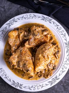 An incredibly delicious Chicken and Mushroom dinner with tremendous flavor that will blow your mind. Serve with rice and make sure to pour a generous amount of that mushroom gravy over it. Perfect for a weeknight dinner or one to impress company. #chicken #chickenandmushroom #mushrooms #skilletchicken #skilletrecipe #dinner | #thegeneticchef Roasted Chicken Leg Quarters, Roasted Chicken Legs, Chicken Quarters, Yummy Chicken Recipes, Yum Yum Chicken, Great Recipes, Dinner Recipes, Favorite Recipes, Kitchen Recipes