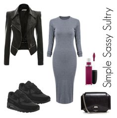 """""""Dress + Sneaks"""" by simplesassysultry on Polyvore featuring NIKE, Givenchy and MAC Cosmetics"""