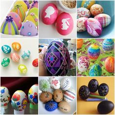 25 Fresh ways to decorate an egg...don't know if I'd have the patience...but they're pretty to look at!