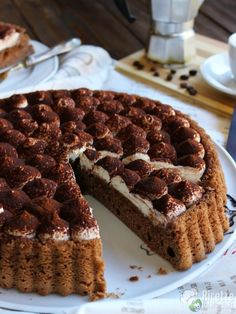Crostata morbida al tiramisù Crostata morbida al tiramisù, ricetta Bakery Recipes, Cookie Recipes, Dessert Recipes, Gourmet Desserts, Mini Desserts, Sweet Tarts, Nutella, Sweet Recipes, Cupcakes