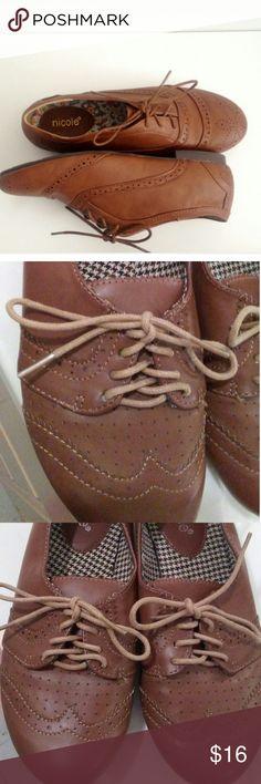 Nicole brown cute shoes Used once like new Nicole  Shoes