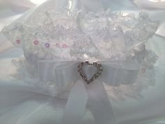 The Maryse White Garter. by Garnize on Etsy, $45.00. Free Shipping. Wedding Garters of distinction.