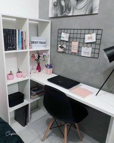 Room Design Bedroom, Room Ideas Bedroom, Home Room Design, Small Room Bedroom, Bedroom Decor, Bedroom Sets, Study Room Decor, Home Office Decor, Home Decor