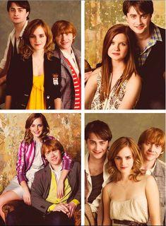 Emma Watson, Rupert Grint, Daniel Radcliffe, Bonnie Wright <3