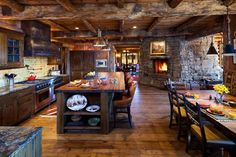 10 Rustic Kitchen Designs That Embody Country Life - http://freshome.com/2014/07/23/10-rustic-kitchen-designs-that-embody-country-life/