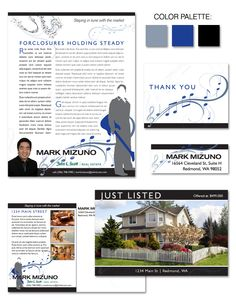 Mark's custom real estate branding highlights his love for music and cultural background.
