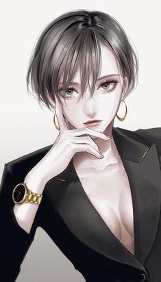 Dark Anime Girl, Pretty Anime Girl, Cool Anime Girl, Beautiful Anime Girl, Manga Girl, Anime Art Girl, Anime Girls, Anime Oc, Kawaii Anime