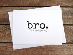 Be My Groomsman Card Bro. It's Happening Will by eFowCreations