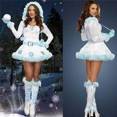 Snow Maiden Christmas Hooded Dress Sexy Christmas Outfit, Christmas Dress Women, Christmas Fancy Dress, Cosplay Dress, Cosplay Outfits, Cosplay Costumes, Santa Dress Women, Fancy Dress Costumes For Women, Snow Dress