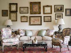 Home Interior, French Country Decor: Interior Design Ideas for Your Home: French Country Decor With Framed Photos