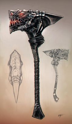 Zombie Weapons, Sci Fi Weapons, Fantasy Weapons, Weapon Concept Art, Armor Concept, Draw The Squad, Dragon Age, Dark Fantasy, Game Art