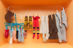 Näissä lämpimissä vaatteissa ei tullut kylmä talven ulkoleikeissäkään. Kuva: Sakari Kiuru / Helsingin kaupunginmuseo. Clothes Hanger, Museums, Hangers, Hanger Hooks, Coat Stands