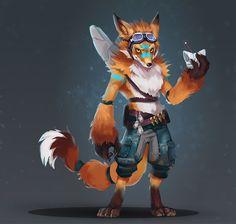 ArtStation - Fox Warrior, Romina Scagliarini