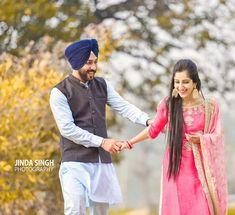 Sikh Wedding, Wedding Shoot, Punjabi Couple, Cute Couples, Sweet Couples, Wedding Photography Poses, Love Poems, Photoshoot, Couple Photos