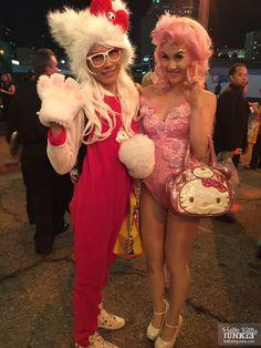 #hellokittycon preview VIP night #hellokitty #sanrio #hkcon #hellokittyhugs Jaycee and Chrissa Sparkles!