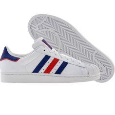 Adidas Superstar II (runninwhite / college royal / college red). $69.99