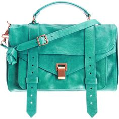 Proenza Schouler PS1 Medium Leather - Teal. Love this purse.