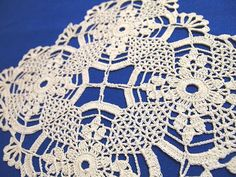MADE TO ORDER Small square crochet doily with by VerLenCrochet