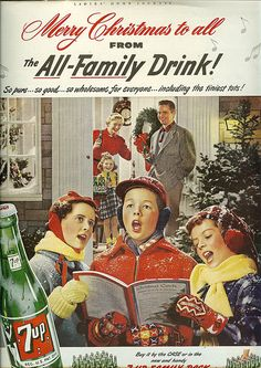 Vintage ads - the uncola for the Christmas holiday. Nice pin, Marcie Fleischman