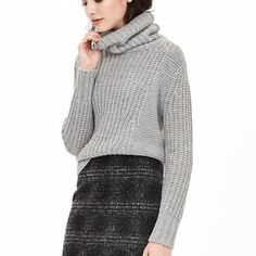BR Cable Knit Turtleneck Sweater The perfect winter sweater. Dress it up with slack and heels or down with jeans and boots. Oversized turtleneck. Banana Republic Sweaters Cowl & Turtlenecks