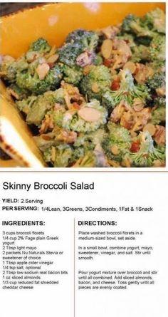 Broccoli Recipes, Veggie Recipes, Indian Food Recipes, Salad Recipes, Healthy Recipes, Healthy Foods, Healthy Family Meals, Healthy Diet Plans, Healthy Choices
