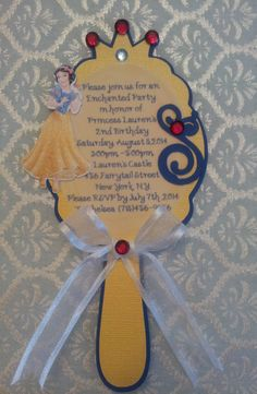 Snow White Mirror Invitation by CreativeMoments4You on Etsy