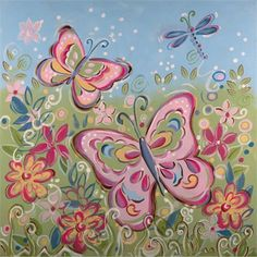 Springtime Fantasy Hand Painted Canvas
