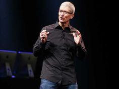 Untucked: Apple's new uniform (Image credit: REUTERS/Beck Diefenbach)