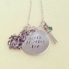 Disney's Mulan Inspired Necklace by LittleWonderEmporium on Etsy, £8.00