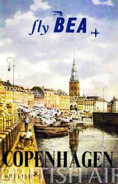 Image detail for -BEA poster for travel to Copenhagen.
