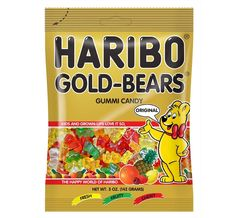 The original gummi bears and HARIBO's number 1 in the five fruit flavors lemon, orange, pineapple, raspberry and strawberry. Size : 5 OZ Pack of : 12 Product Selling Unit : case Haribo Gold Bears, Gummy Bears, Harry Potter Candy, All Candy, Bear Shop, Chocolate Lava Cake, Baking Supplies, Natural Flavors, Lemon