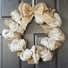 Gorgeous and fancy white Burlap Lace and by TwoBeesinPodBoutique