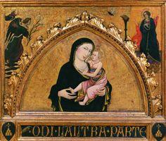 Maestro di Sant'Ivo - Madonna col Bambino - 1400 circa -