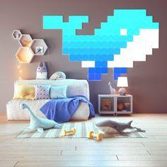 The Guardian Whaley Light Panels - - Babyzimmer Smart Kit, Smart Home, Nanoleaf Designs, Nanoleaf Lights, Man Cave Lamps, Apple Store, Color Changing Lights, Colorful Party, Modular Design