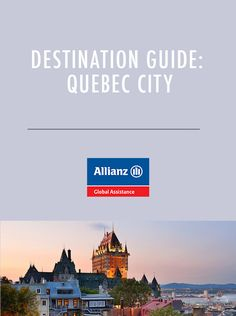 Quebec City is not only the capital of Canada's Quebec province ? it's also one of the oldest cities in North America. Capital Of Canada, Dream Trips, Quebec City, Old City, North America, Destinations, Travel, Viajes, Old Town