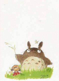 Totoro Postcards by Studio Ghibli Studio Ghibli Art, Studio Ghibli Movies, Manga Anime, Anime Art, Hayao Miyazaki, Kawaii, Girls Anime, My Neighbor Totoro, Fan Art