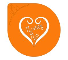 Stencil - Marry Me! - What more can we say - we hope you will only need to use this once! Marry Me, Valentines Day, Stencils, Canning, Valentines Diy, Home Canning, Stenciling, Stencil, Valentine Words