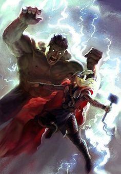 Hulk v. Thor by Daniel Clarke