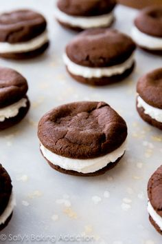 Homemade Oreos! Much easier than you think and twice as delicious. Easy recipe at sallysbakingaddiction.com