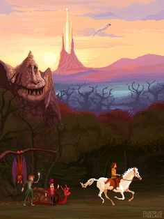 """""""The Neverending Story"""", a pixel art tribute by Gustavo Viselner, 2015"""